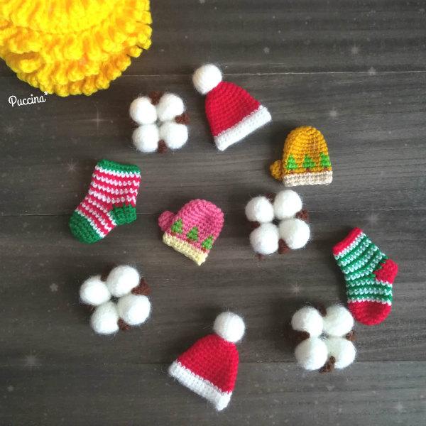 かぎ針編みのクリスマスオーナメント